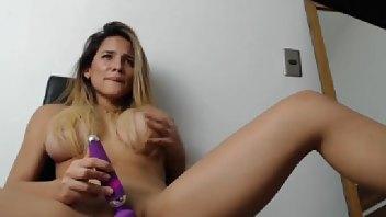 EMILIANA_CRUZ MFC Pussy Masturbation, Dildo Sucking & Ball Licking Vid